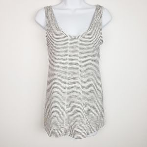 Lole gray white striped scoop neck athletic tank
